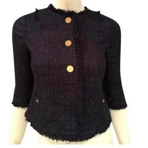NWT! Tory Burch Emma Navy Tweed Jacket
